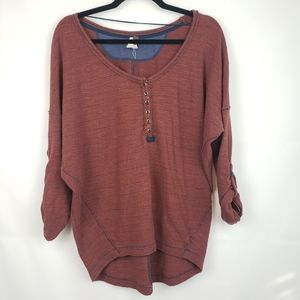 We the free people Women's sweater blouse Henley